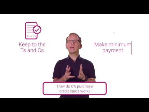 How Do 0% Purchase Credit Cards Work?