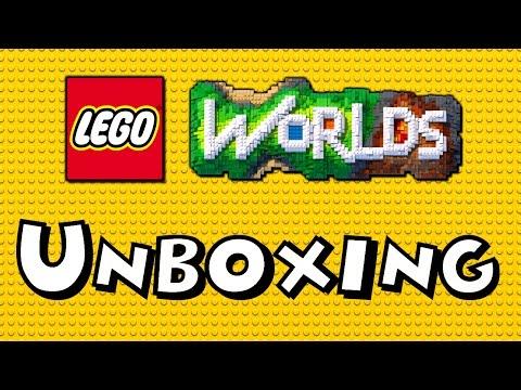 👑 Unboxing Giant Blue LEGO Brick of LEGO Worlds Video Game