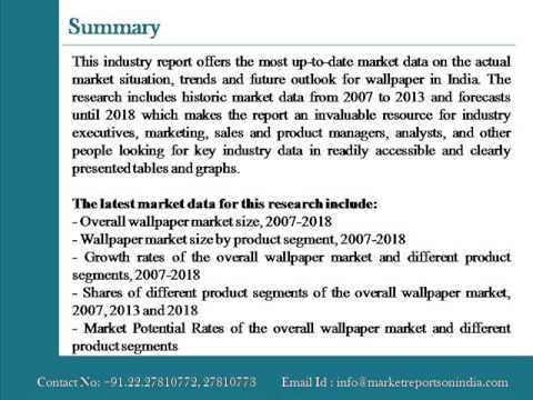 Wallpaper Market in India to 2018 Market Size, Trends