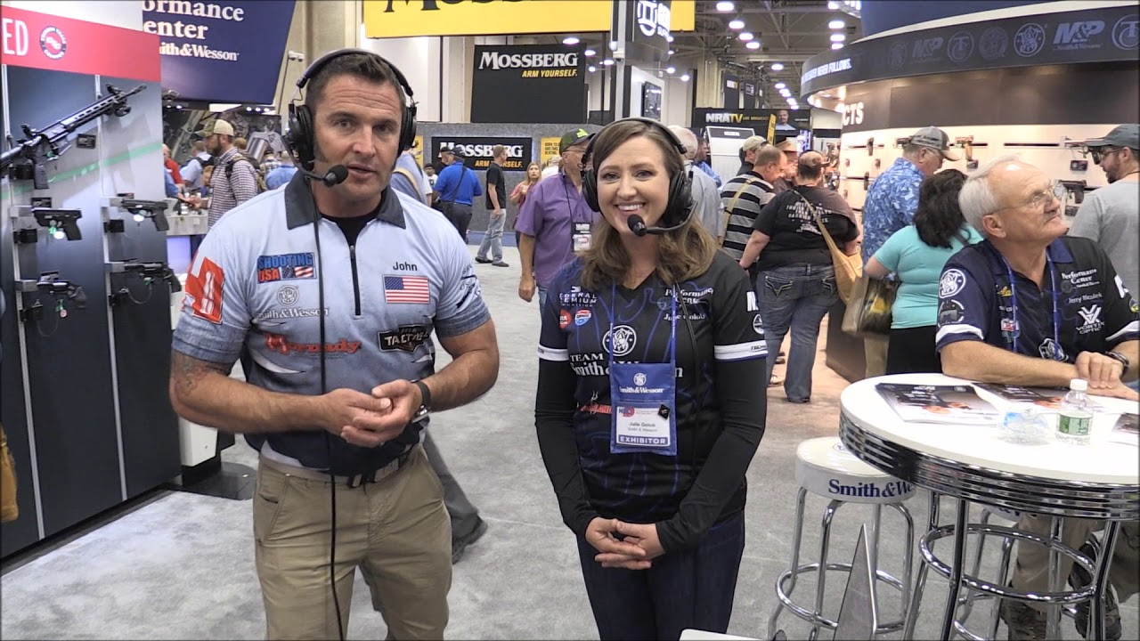 Shooting USA Video Podcast with NRA Board Member Julie Golob at the 2018 NRAAM