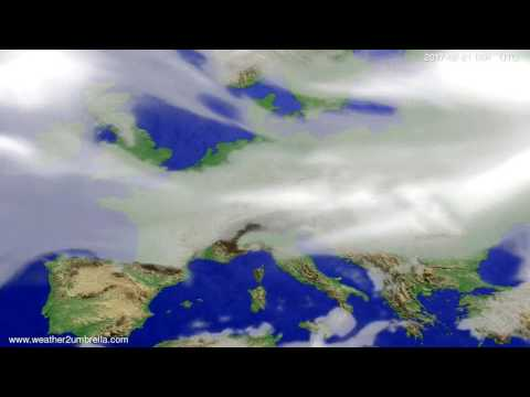 Cloud forecast Europe 2017-02-18
