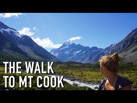 WALKING TO NEW ZEALAND'S HIGHEST MOUNTAIN | Mt Cook