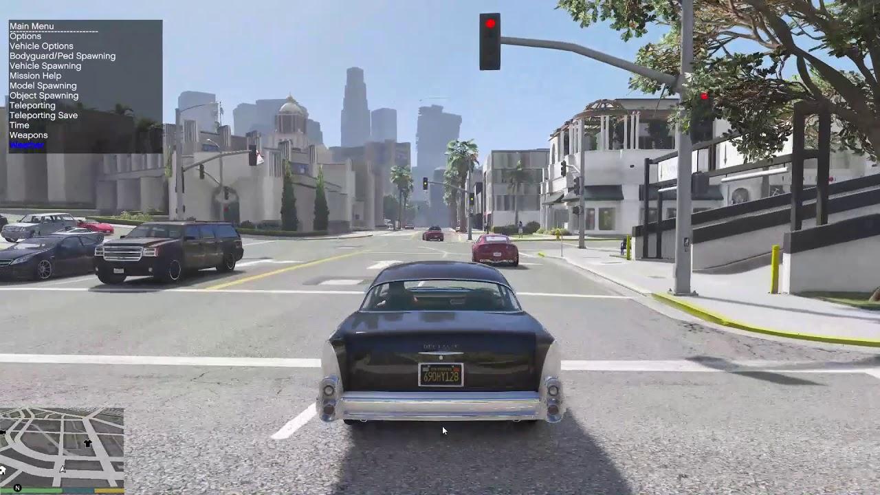 GTA 5 Mods - L A Roads + VisualV