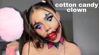 cotton candy clown HALLOWEEN MAKEUP TUTORIAL
