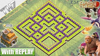 NEW TH7 Base 2019 with REPLAY - Clash of Clans
