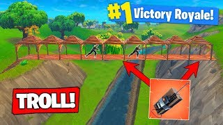 EPIC C4 BRIDGE TROLL In Fortnite Battle Royale!