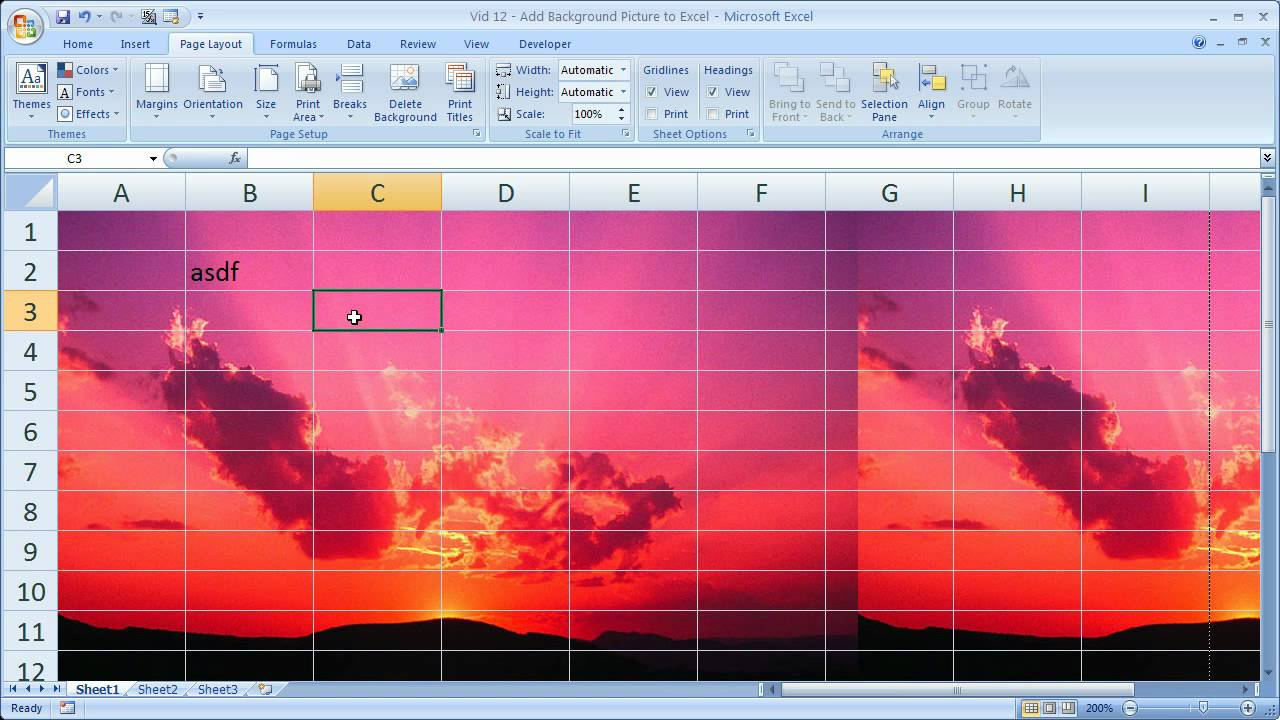 Excel Tips 12 Add Background Pictures to Excel Spreadsheets – Insert Worksheet Excel