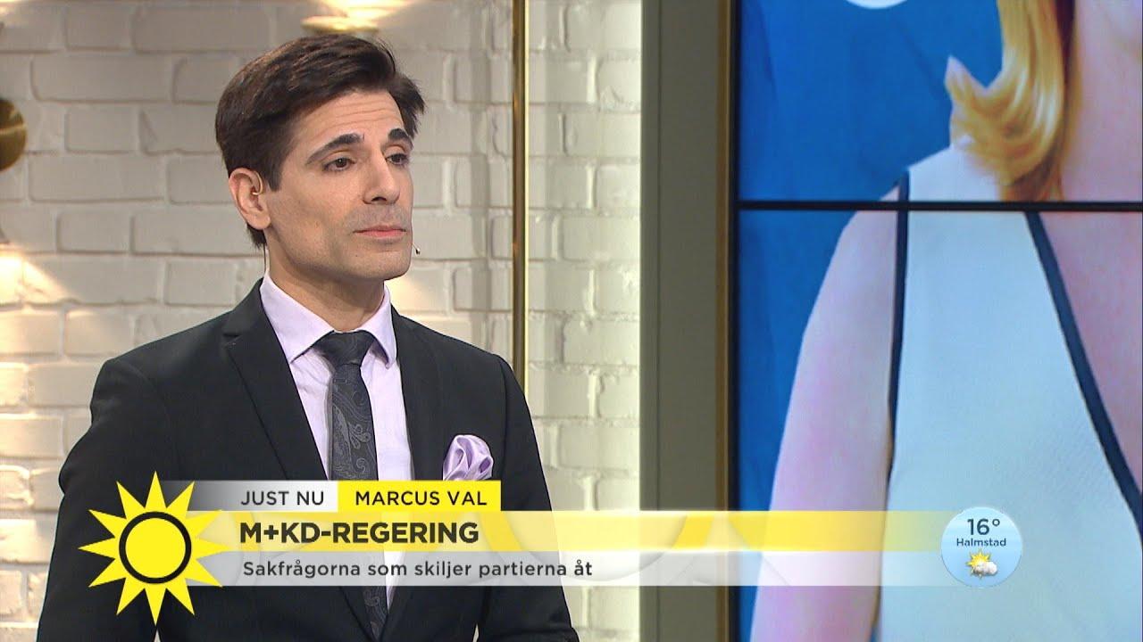 """Marcus: """"Det kommer att bli en samverkan mellan M och SD"""" - Nyhetsmorgon (TV4)"""