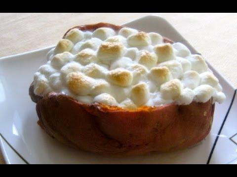 Microwave baked sweet potatoes cinnamon