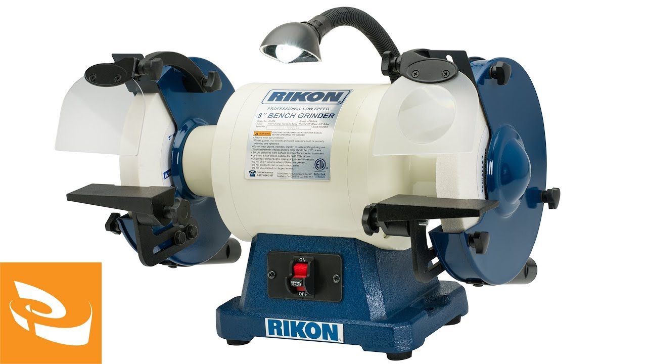 Rikon 8 Quot Slow Speed Bench Grinder 1 Hp Youtube