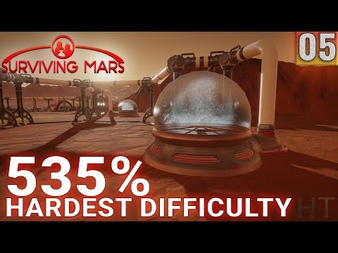 Surviving Mars 535% HARDEST DIFFICULTY - Part 05 - Logistical Plans - Gameplay (1440p)