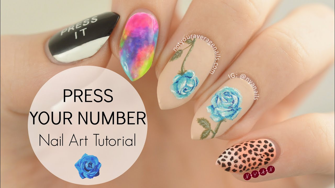 Taemin press your number nail art tutorial youtube prinsesfo Choice Image