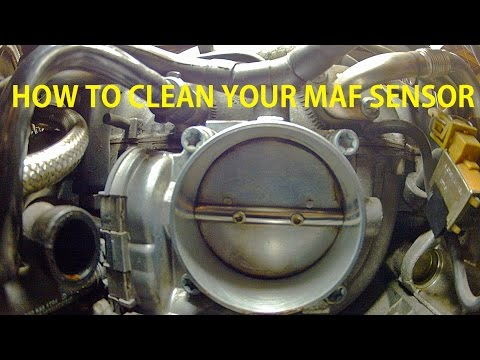 How To Remove And Clean Your Mass Air FLow  (MAF) Sensor On Your Mercedes Benz S500 W220