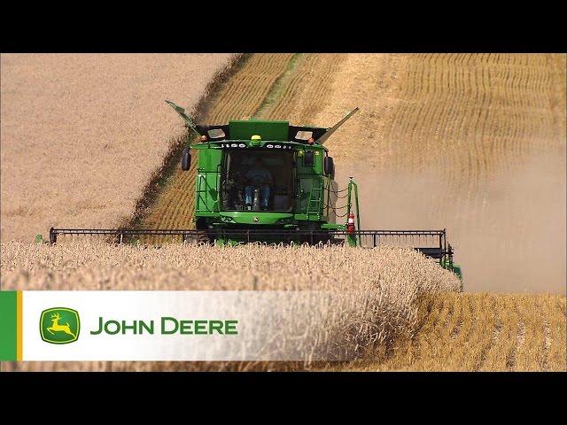 Kombajny John Deere serii S - Aktywne dostosowanie do ukształtowania terenu