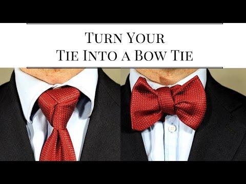 How To Tie Necktie Into Bowtie