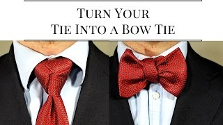 How To Tie A Necktie Into A Bowtie