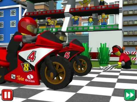 Лего Сити! Lego City! My City! Гонки на мотоциклах! Серия 33! Игра, Мультик, мультфильм