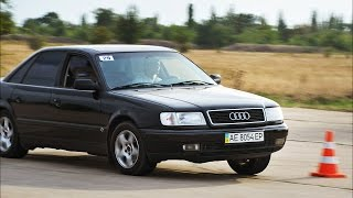Audi 100 C4 V6 2.6 AT (слалом, Кривой Рог)(занял второе место, подробнее: http://www.drive2.ru/l/4518982/ Автослалом в Кривом Роге 7 сентября 2014 г. организованный..., 2014-09-25T17:42:02.000Z)