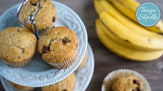 Банановые маффины с шоколадом | Banana Muffins with chocolate chips | Tanya Shpilko