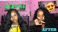 How I Curl Cheap Synthetic Body Wave Hair 🤤😍