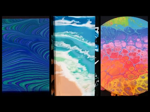 3 Acrylic Pours in 10 Minutes - 3 More Different Abstract Paint Pouring Techniques