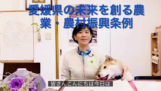 初、愛媛県の未来を創る農業農村振興条例 審査委員会 参加