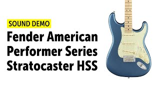 Fender American Performer Series Stratocaster HSS MN Satin - Sound Demo (no talking)