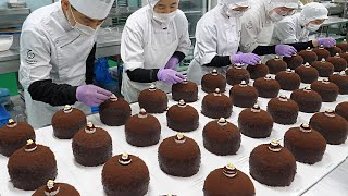Chocolate Bomb! Giant Nut Chocolate Cake / Korean Food Factory
