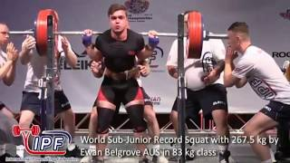 Junior and Sub-Junior World Records - Part 1 // World Classic Powerlifting Championships Canada 2018