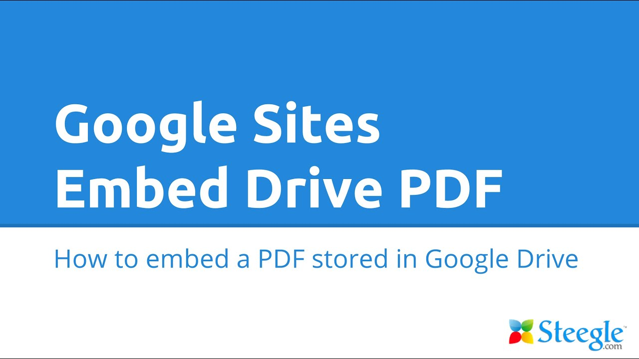 how to add pdfs to google site