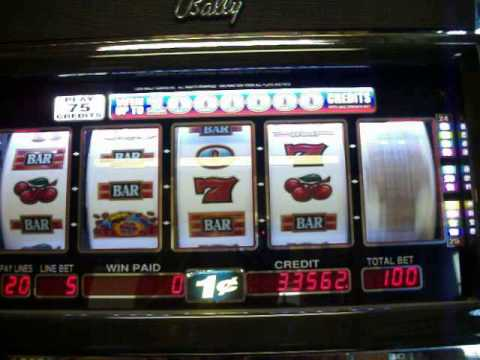 Million pennies slot machine presidential election gambling odds
