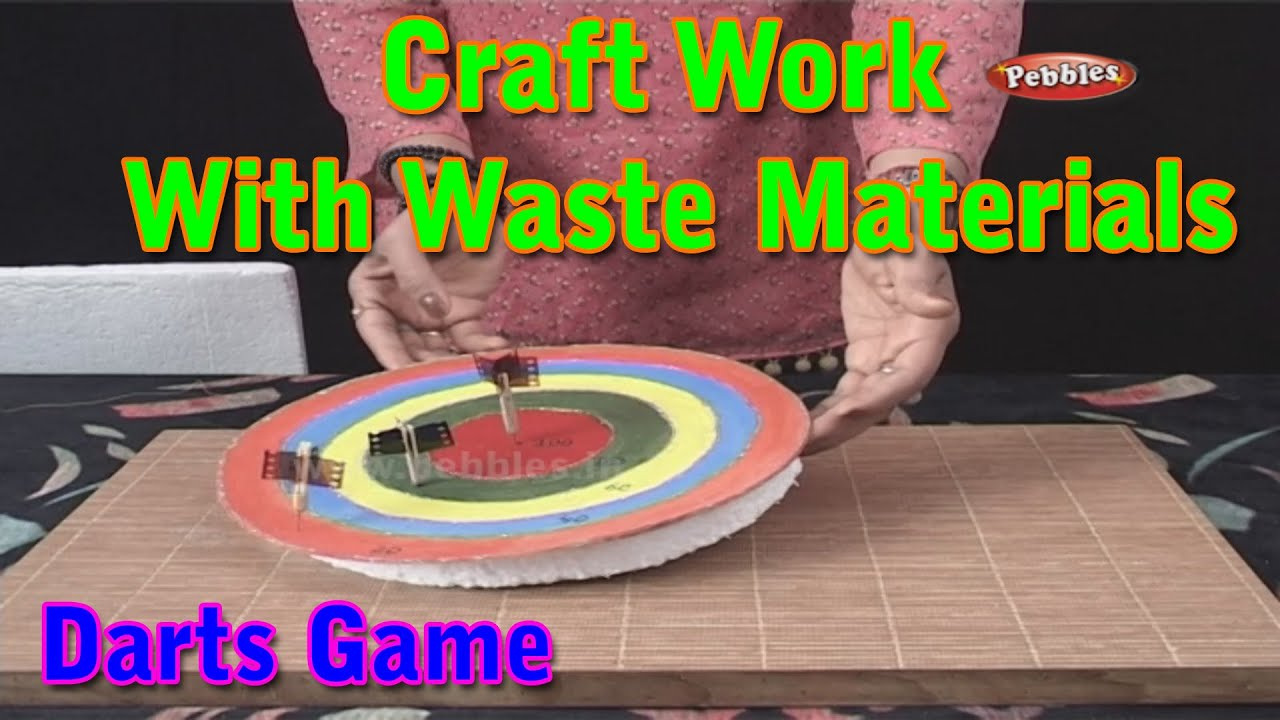 Darts Game Craft Work With Waste Materials Learn Craft For Kids