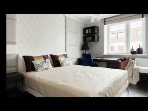 Дизайн спальни 13 кв. м  с рабочей зоной. Дизайн маленькой спальни.