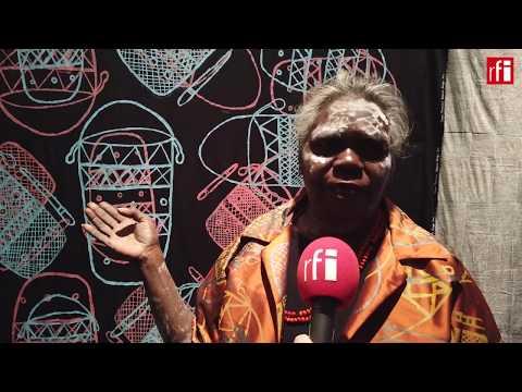 Australian aboriginal artists exhibit works in Paris
