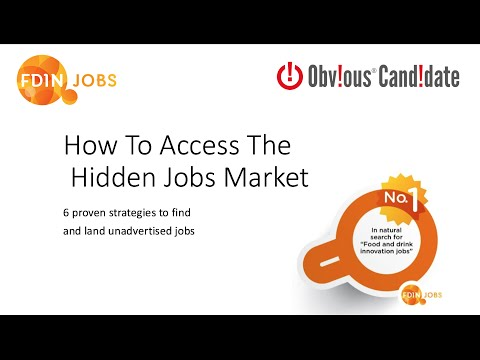 FDIN Jobs Webinar: How To Access The Hidden Jobs Market