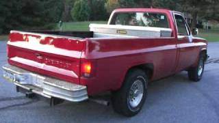 1983 Chevy Diesel dumps black smoke and spins tires!