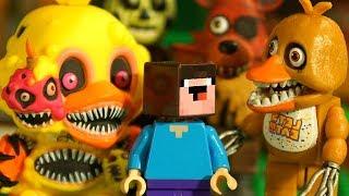 ТОП 5 Страшных Фигурок и АРЕНА МОБОВ из LEGO Майнкрафт Нубик Мультики для Детей