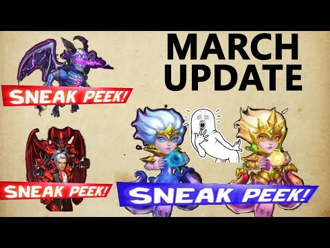 MARCH UPDATE   New Hero   New Skins - Castle Clash