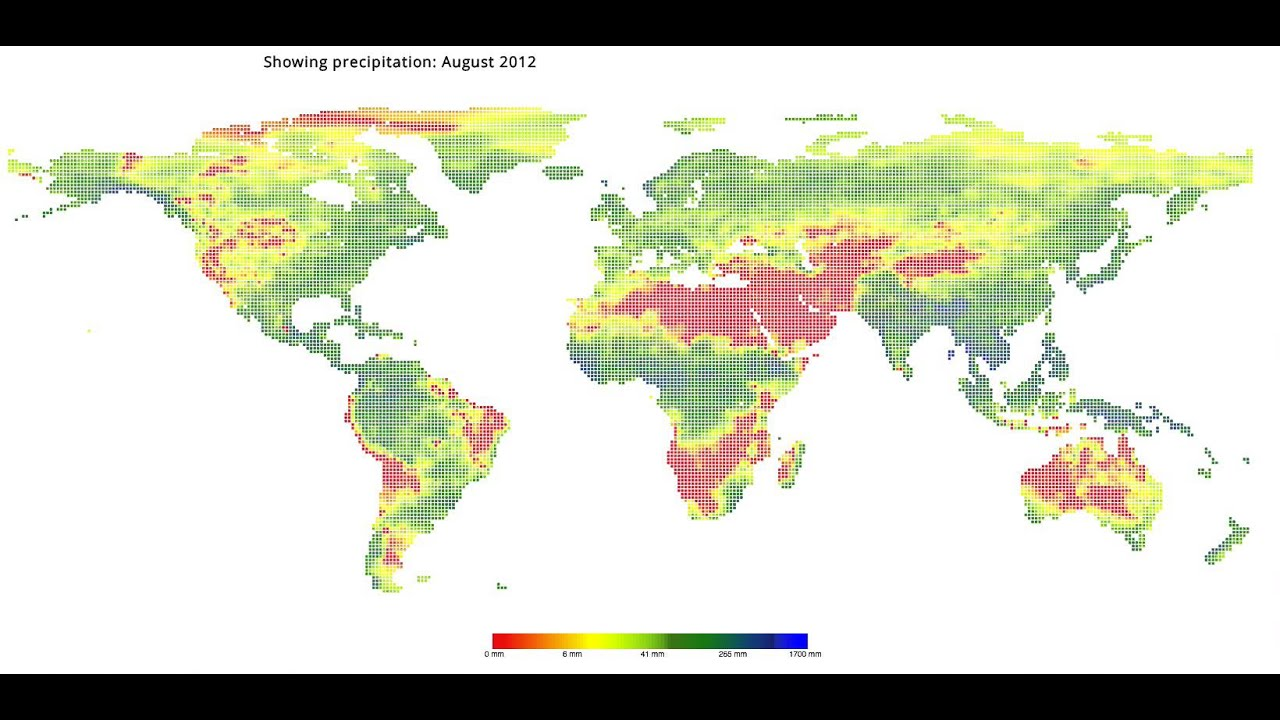 Create global precipitation (rain) visualizations with HTML5, Canvas