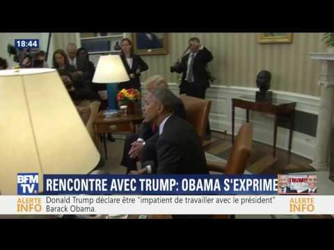 Les premières images de l'entrevue entre Barack Obama et Donald Trump à la Maison blanche