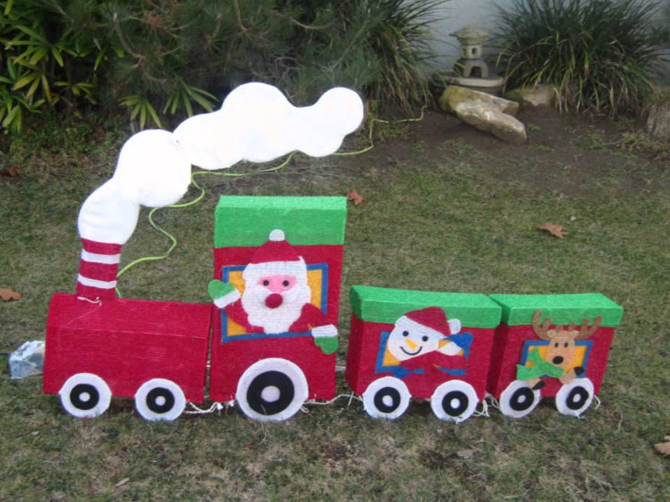 Homemade Christmas Yard Decorations Ideas (LA California)   YouTube
