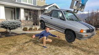 DESTROYING A CAR IN MY FRONT YARD! thumbnail