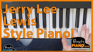 EASY Jerry Lee Lewis Style Piano Tricks for Beginners!
