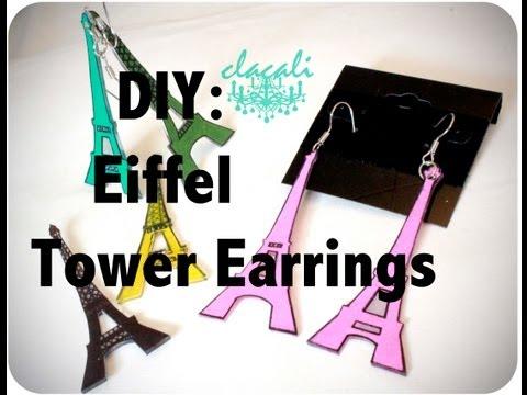 DIY: Eiffel Tower Earrings
