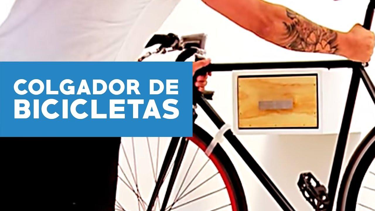 C mo hacer un colgador de bicicletas youtube for Como guardar la bici en un piso