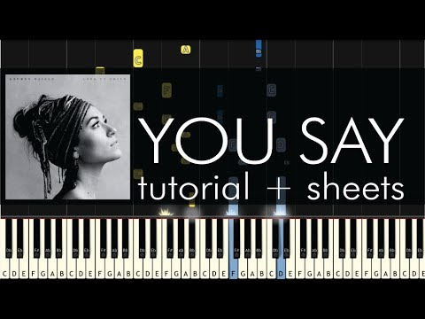 Lauren Daigle - You Say - Piano Accompaniment Tutorial + Sheets