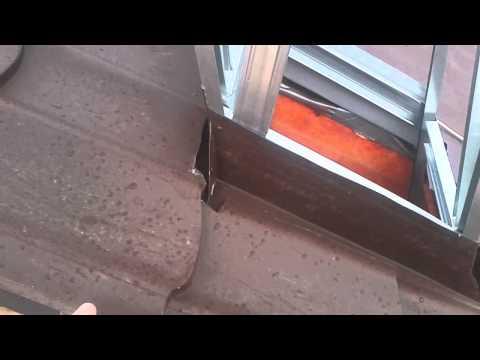 видео: Как сделать выход для трубы на крыше из металлопрофиля / металлочерепицы