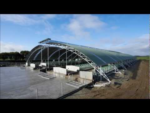 Edendale Curved Roof Barn Construction Youtube