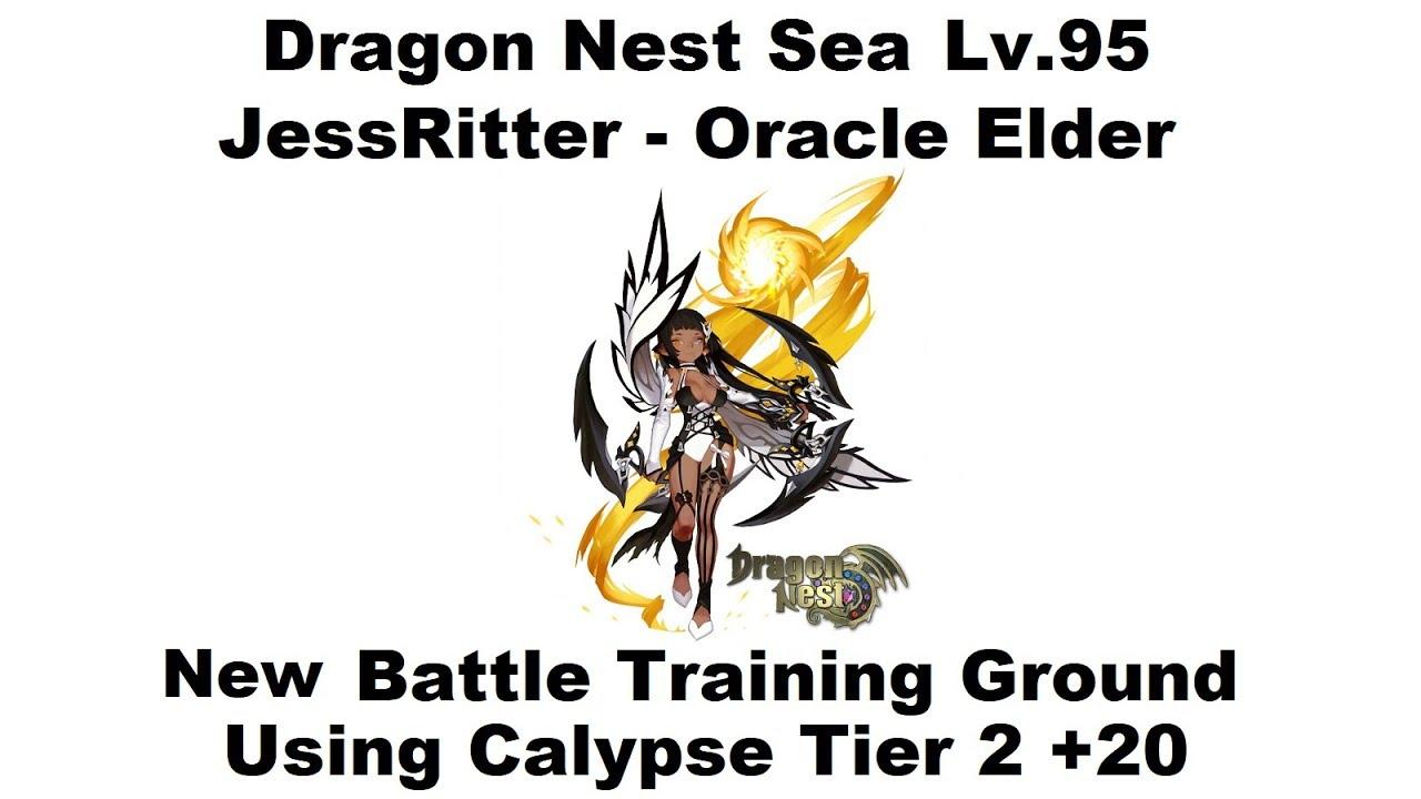 Dragon Nest SEA - Lv 95 Oracle Elder - DPS Test Calypse Tier 2 +20 1080p