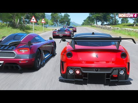 Forza Horizon 4 - Ferrari 599XX Evo | Goliath Race Gameplay